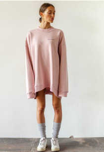 Oversized Crewneck Candy Pink